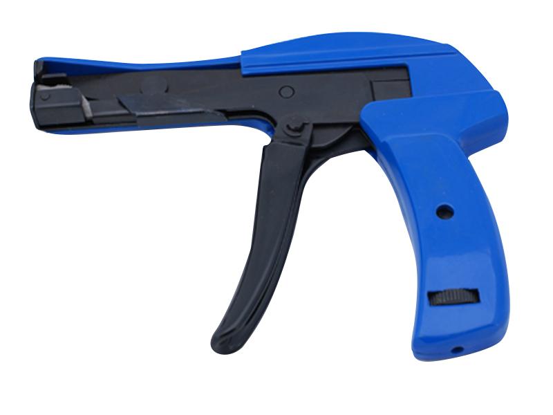 Zip Tie Gun >> Blue Metal Body Cable Tie Gun For Nylon Ties 18 Lbs 50 Lbs Test