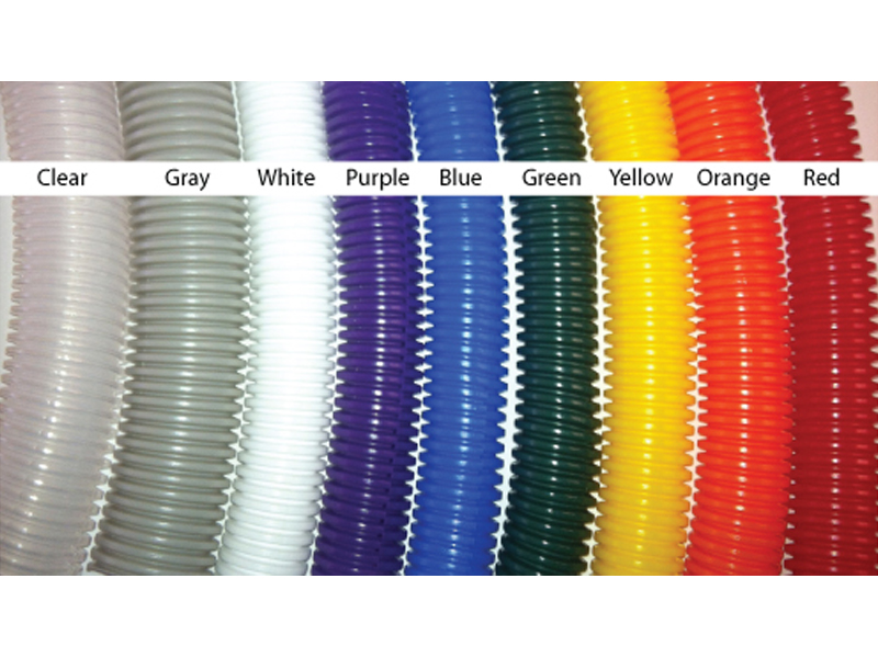 Colored Split Convoluted Wire Loom Tubing on