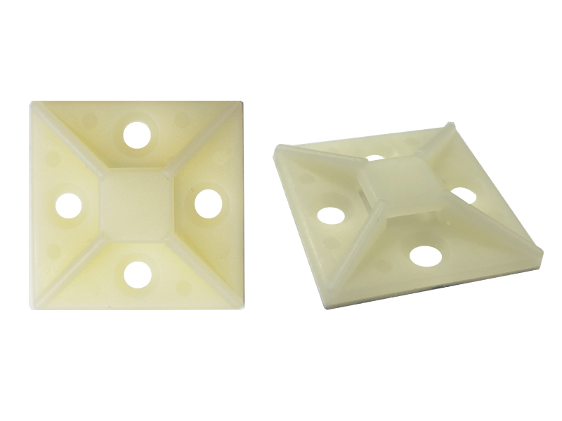 Natural Adhesive Backed Mounts For Cable Ties