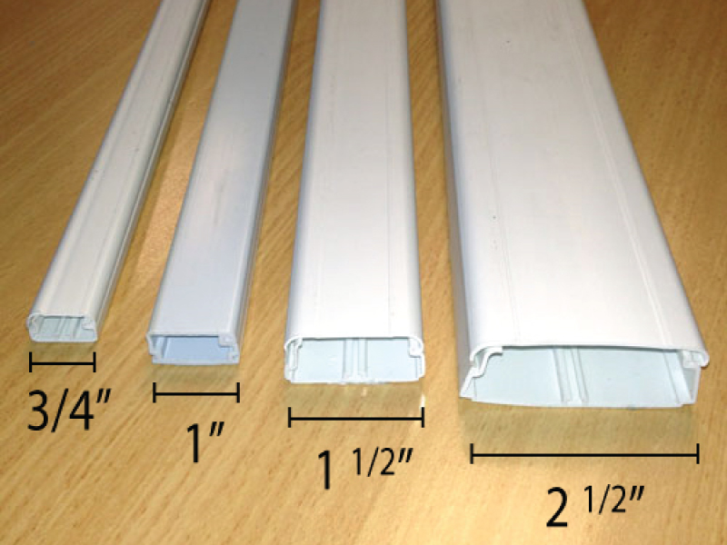 hinged cable raceways in various sizes