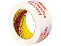 3M 3775 Pre-Printed Carton Sealing Tape - Hand Rolls - MIXED MERCHANDISE ENCLOSED - 1.9 Mil - 2