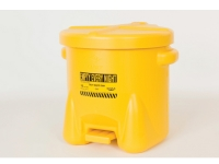 935-fl-10-gallon eagle poly oily waste cans yellow