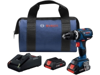 BOSCH Connected-Ready Compact Tough 1/2 In. Hammer Drill/Driver Kit - 18V EC Brushless - with (2) CORE18V 4.0 Ah Compact Batteries