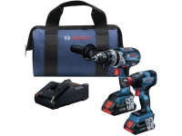 BOSCHr Combo Kit with 2-in-1 Impact Drill/Driver and 4.0 AH Batteries - 18 V
