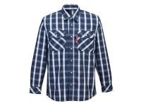 PORTWEST FR Bizflame 88/12 Plaid Shirt - S - Navy