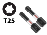 BOSCH Impact Tough Torx Insert Bits - #25 Hex