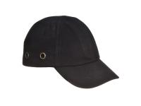 PORTWEST Bump Cap Unisex Baseball Hat - OS - Black