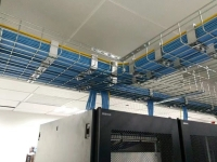 electro zinc cable tray in use with ceiling cable run