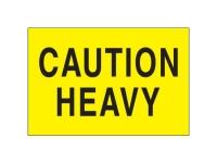 Caution Heavy Yellow