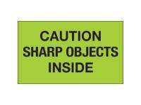 Caution Sharp Object Green