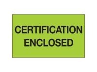 Certification Enclosed Green