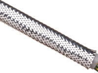 Silver chrome xtra coverage expandable sleeving