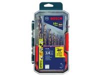 BOSCH Cobalt M42 Twist Drill Bit Set with Case - 14 pc
