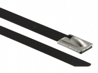 coated black stainless steel cable ties
