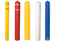 Bollard covers, assorted colors