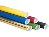 colored mailer tubes