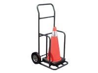 Transport cart carrying cones