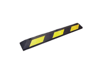 Rubber parkings stop,6' L, 33#, Yellow/Black