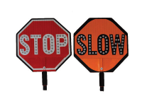 LED lighted safety signs, STOP, SLOW