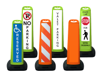 Various sheetted trailblazzer traffic panels