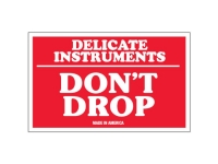 Delicate Instruments Do Not Drop Red Solid