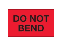 Do Not Bend Red Solid