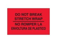 Do Not Break Stretch Wrap Bilingual Red