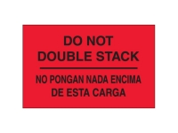 Do Not Double Stack Bilingual Red