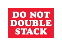 Do Not Double Stack White Text