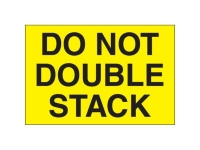 Do Not Double Stack Yellow Solid