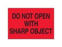 Do Not Open Wtih Sharp Red
