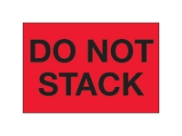 Do Not Stack Red Solid