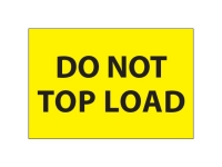 Do Not Top Load Yellow