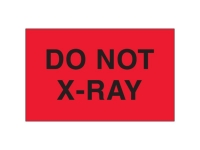 Do Not Xray Red Solid