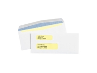 Pack Kontrol Double Window Gummed Business Envelopes with Security Tint - 3ᅠ7/8