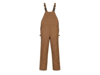 PORTWEST Duck Quilt Lined FR Bib Overalls - S - Brown