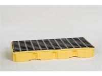 eag-1632-yellow 2 drum modular spill platform no drain