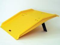 eagle yellow polyurethane dockplate side view