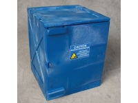 Eagle 4 gallon modular poly cabinet, blue