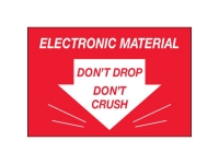 Electronic Material Do Not Drop Crush Red