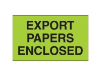 Export Papers Enclosed Green