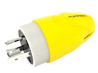 Furrion powersmart marine safety yellow furrion 30a male looking plug, f30mlp-sy