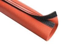 Techflex fire flex wrap high temperature sleeving in red color