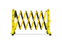 flexmaster expandable barrier barricade safety yellow