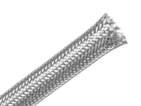 techflex flexo silver plated braided metal sleeving