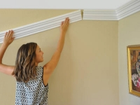 Foam crown molding demonstration image