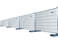 Temporary fortress steel perimeter fencing with 7' 1-2/2