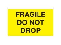 Fragile Do Not Drop Yellow