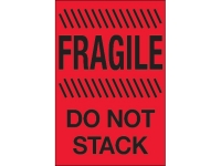 Fragile Do Not Stack Red