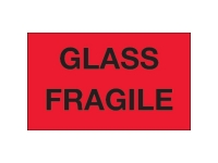 Glass Fragile Red